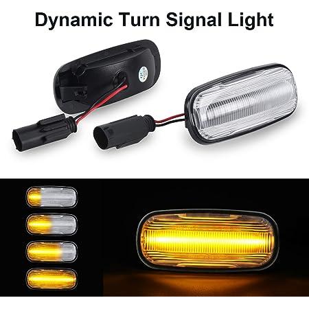 Dynamische Blinkleuchte Oz Lampe Seitenmarkierung Fließende Seitenmarkierungen Klar Für Lan D Rove R Discovery 2 Defender Freelander 1 Auto