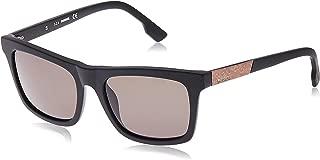 Acetate Frame Green Lens Unisex Sunglasses DL01205402N