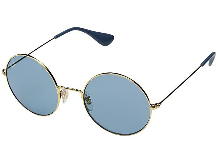 1960s Sunglasses | 70s Sunglasses, 70s Glasses Ray-Ban RB3592 JA-JO 50mm GoldLight Blue Classic Fashion Sunglasses $168.00 AT vintagedancer.com