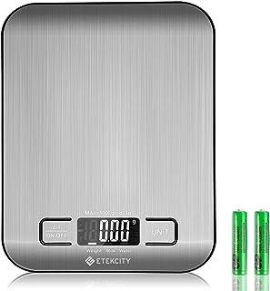 Etekcity Báscula de Cocina Digital de Precisión Balanza Cocina de Acero Inoxidable 5 kg/ 11 lbs Peso Cocina Multifuncion...