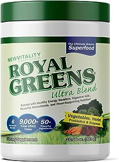 Royal Greens Ultra Superfood | Healthy Veggie Powder with Probiotics, Enzymes, Antioxidants, Wheat Grass & Greens 10.75oz ...