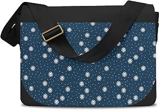Kawaii Winter Snowflakes Messenger Bag - One Size Messenger Bag