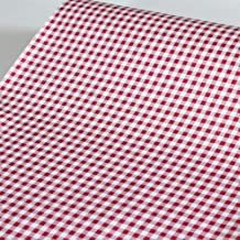 Yifely Red Holiday Gingham Drawer Paper Self-Adhesive Shelf Liner Makeup Cabinet Decor 17.7 Inch by 9.8 Feet
