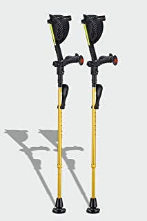 Ergobaum Prime 7TH Generation by Ergoactives. 1 Pair (2 Units) of Ergonomic Forearm Crutches - Adult 5' - 6...