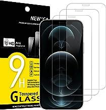 """NEW'C Lot de 3, Verre Trempé Compatible avec iPhone 12 Pro Max (6.7""""), Film Protection écran sans Bulles d'air Ultra Résistant (0,33mm HD Ultra Transparent) Dureté 9H Glass"""