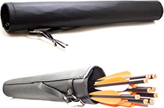 "Southland Archery Supply SAS Leather Tube 17"" Hip Quiver Arrow Holder with Belt Clip"