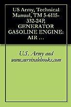 US Army, Technical Manual, TM 5-6115-332-24P, GENERATOR GASOLINE ENGINE: AIR COOLED, 5 KW, AC, 120/240 V, SINGLE PHASE; 120/208 V, 3 PHASE, SKID MOUNTED