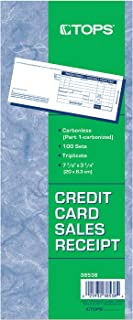 Adams Credit Card Sales Slip, 3-Part, 100 Sets per Pack (38538)