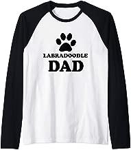Labradoodle Dog Cute Dog Owner Lover Gift For Dad Raglan Baseball Tee