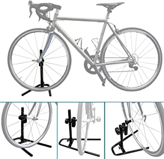 Sports Bike Stand Rack for Quick Release Front Wheels Adjustable Aluminium Alloy Bicycle Storage Floor Parking Rack Wheel Holder Fit 20-29 Tire Mountain Bikes Road Bicycle Outdoor Indoor Home Garage