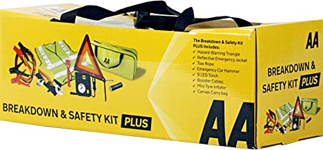 AA Breakdown & Safety Kit Pus, with Tyre Inflator