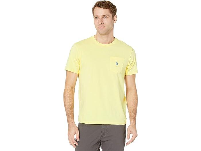 U.S. POLO ASSN. Solid Crew Neck Pocket T-Shirt