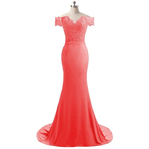 9f1d5d855a04 HEIMO Women's V-Neck Mermaid Evening Party Gowns Appliques Formal Prom  Dresses Long H115