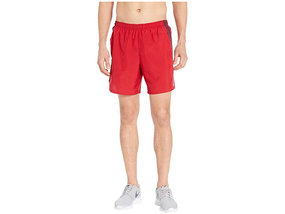 Nike Challenger Shorts 7 BF (Gym Red/Night Maroon/Reflective Silver) Men