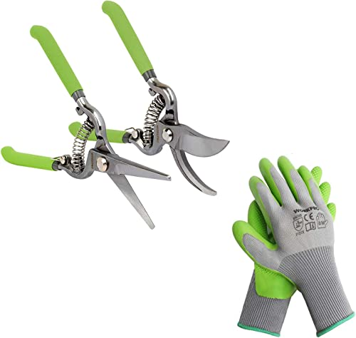 wholesale WORKPRO 2-Piece lowest lowest Pruning Shears Set & WORKPRO 6 Pairs Garden Gloves outlet sale