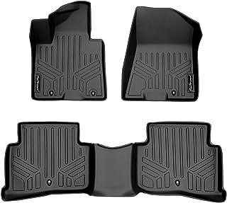 SMARTLINER Custom Fit Floor Mats 2 Row Liner Set Black for 2017-2019 Kia Sportage