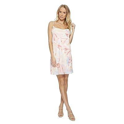 1.STATE Cowl Neck Slip Dress w/ Draped Back (New Ivory) Women