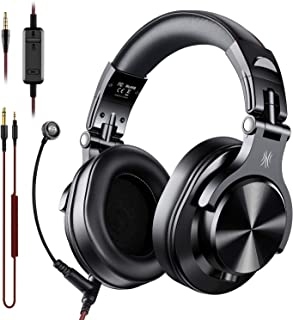 OneOdio A71 Over Ear Headsets with Boom Mic - PS4 Xbox One PC Laptop Wired Stereo Headphones with On-Line Volume & Share-Port Headsets for Gaming Office Phone Call DJ