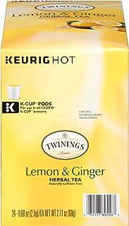 Twinings of London Lemon & Ginger Herbal Tea K-Cups for Keurig, 96 Count