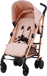 My Babiie Rose Gold and Blush Baby Stroller – Lightweight Baby Stroller US51 – Rose Gold Frame and Pink Canopy – Lightweight Travel Stroller – Stylish Umbrella – Suitable from Birth – 33 lbs