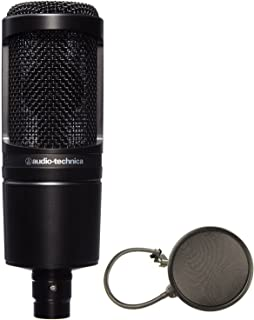 Audio-Technica AT2020 Cardioid Condenser Studio Microphone Bundle + Pop Filter