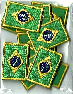 ブラジル国旗ワッペン ミニ SS10枚セット