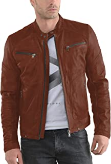 Best udo waxed lambskin leather moto jacket Reviews
