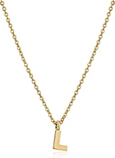 Gold-Tone 7mm Initial Pendant Necklace, 20