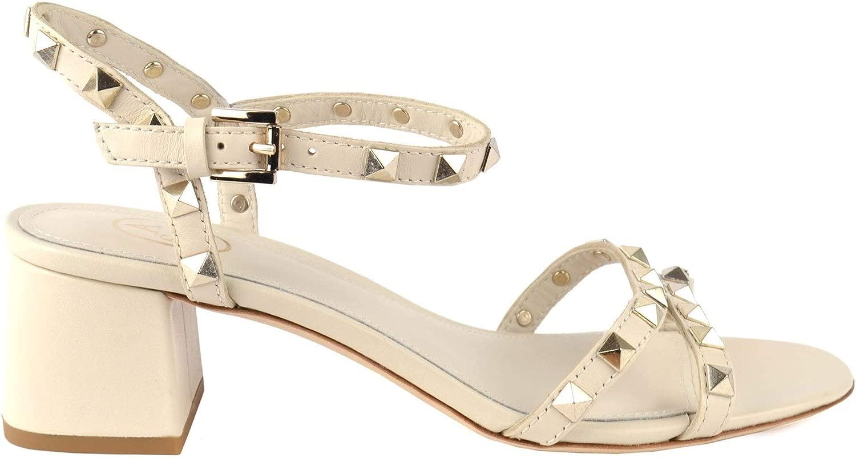 Ash Footwear Footwear Iggy Ivory Sandalen mit Absatz, Weiße Ledersandalen, Sandalen mit Nieten, Sandalen für Damen  neuer Stil