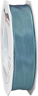 Morex Ribbon French Wired Lyon Ribbon, 1-Inch by 27-Yard Spool, Williamsburg Blue (46425/25-224)