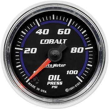 "Auto Meter 6153 Cobalt 2-1/16"" 0-100 PSI Full Sweep Electric Oil Pressure Gauge"