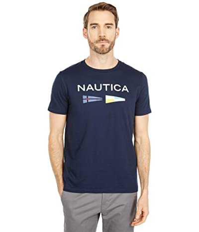 Nautica Signal Flags Graphic T-Shirt (Navy) Men