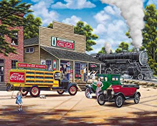 Springbok Puzzles - Coca-Cola All Aboard - 1000 Piece Jigsaw Puzzle - Large 24 Inches by 30 Inches Puzzle - Made in USA - Unique Cut Interlocking Pieces - Officially Licensed Coca Cola Puzzle