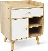 طاولة جانبية عصرية من أولاندر ، منضدة جانبية ، طاولة جانبية مع درج ، خزانة و أرفف لغرفة المعيشة أو غرفة النوم