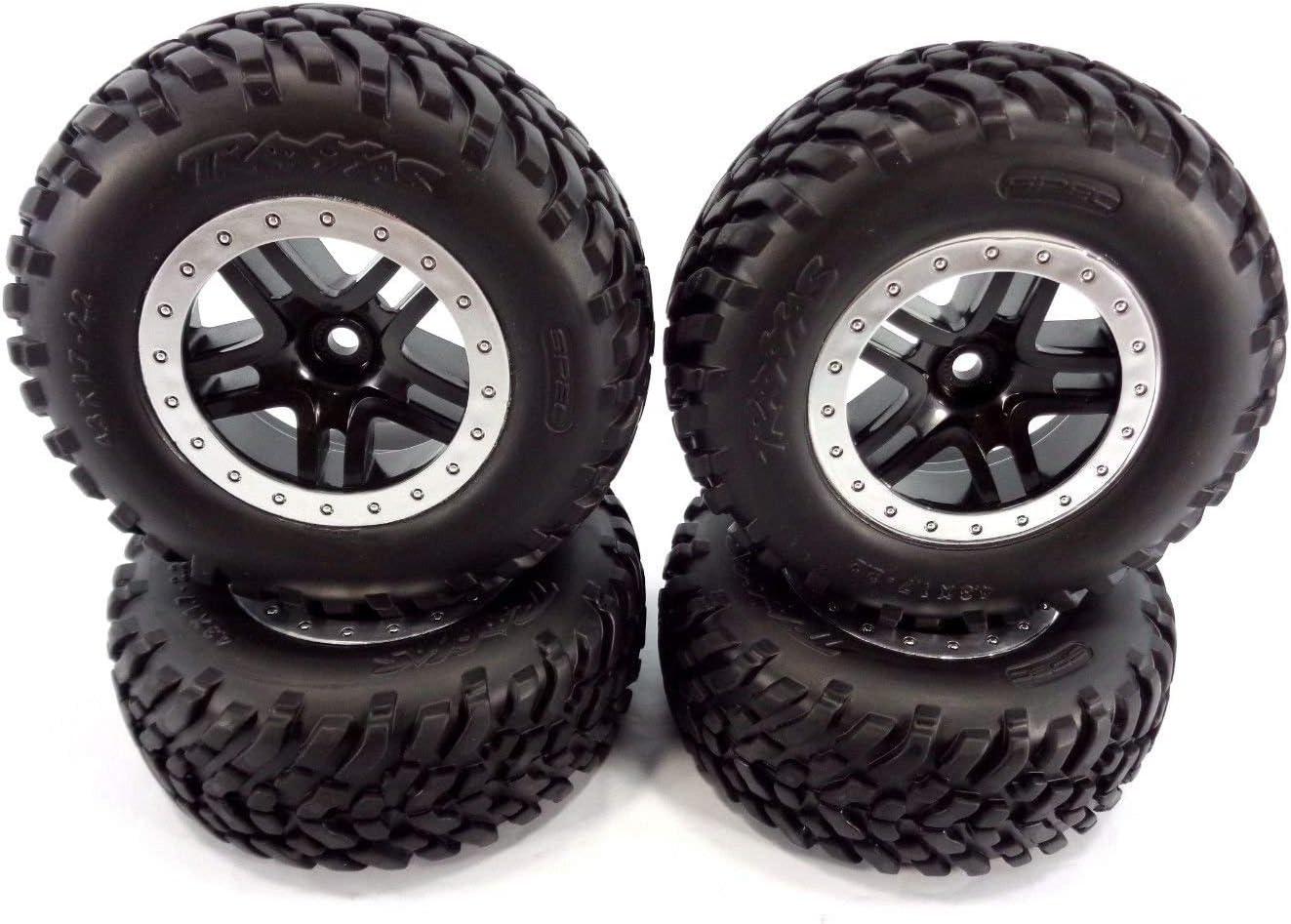 Slash 58034-2 2wd Tires Complete Free Shipping 12mm Black Rap Fit Spoke Wheels Split Latest item
