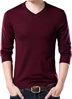 Sweater Mens Casual V Neck Pullover Men Autumn Slim Long Sleeve Sweaters Knitted Cashmere Wool Pull Homme