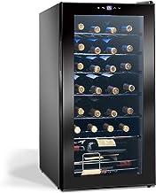 Display4top Boissons Vin Conservation Réfrigérée Cave à Vin Réfrigérateur Supporte 28 bouteilles, Porte en verre trempé, p...