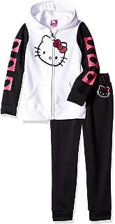 Hello Kitty Girls' 2 Piece Hooded Fleece Active Set