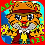 Tiger Toddler & Super Pig World Explorer - Free learning games for 2 3 4 & 5 years olds - Math puzzles , matching, letter, coloring and more! - Great for Parents and Teachers