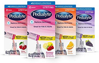 Pedialyte Electrolyte Powder, Variety Pack, Electrolyte Hydration Drink, 6 Count (Pack of 4)