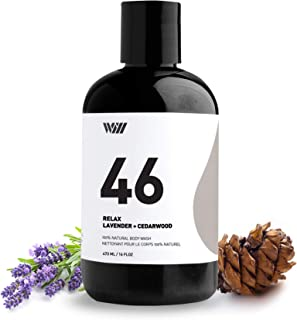 46 Natural Cleansing Body Wash, Organic Shower Gel, Natural Body Wash for Men and Women, Suitable for All Skin Types (Relax - Lavender and Cedarwood) - Way of Will