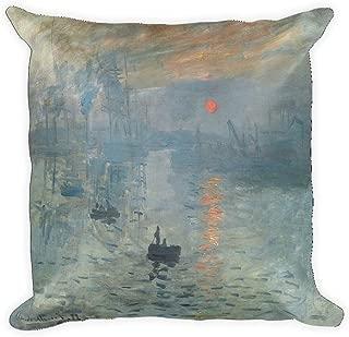 Vintage Images Claude Monet's Impression, Soleil Levant 0038 - Square Pillow Case w/Stuffing