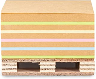 Bloco Adesivo Maxprint Cubo Kraft Colors - Médio - 76mm x 76mm - c/ 400 fls