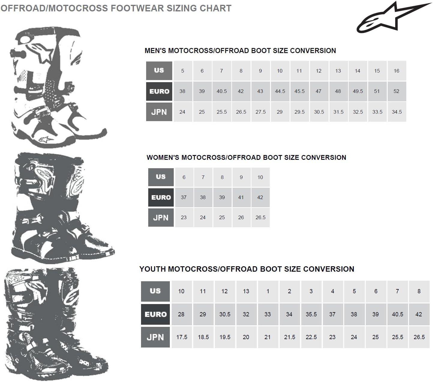 Alpinestars SMX-3 Mens Motorcycle Street Boots Black//Red, EU Size 39