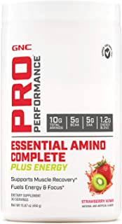 GNC Pro Performance Essential Amino Complete Plus Energy, Strawberry Kiwi, 15.9 oz, Supports Muscle Recovery