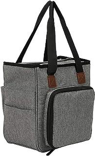 MHXY Stockage de Tricot Sac à Tricoter Portable Crochets de Laine Crochet de Filetage Fil Sac de Rangement Sac à Coudre Ai...
