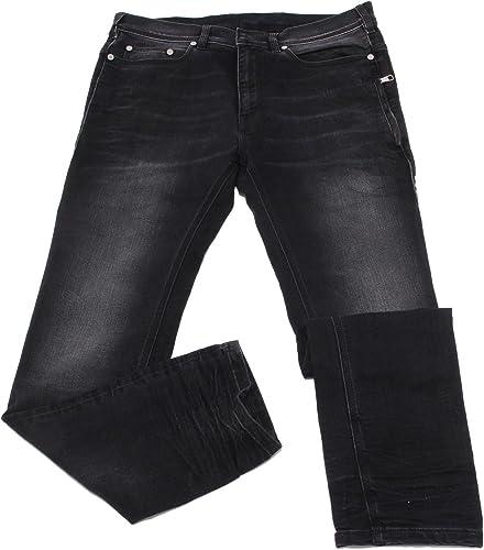 Neil Barrett 1788W jeans hombres negro Denimtrouser pant man