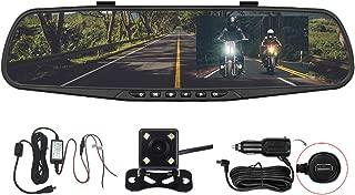 Panlelo PAC30P-1 Car Dash Cam Car Video Recorder Vehicle Rearview Mirror DVR Auto Dual Lens Front & Reversing Camera 4.3 inch LCD Anti-glare Screen HD Video Recording