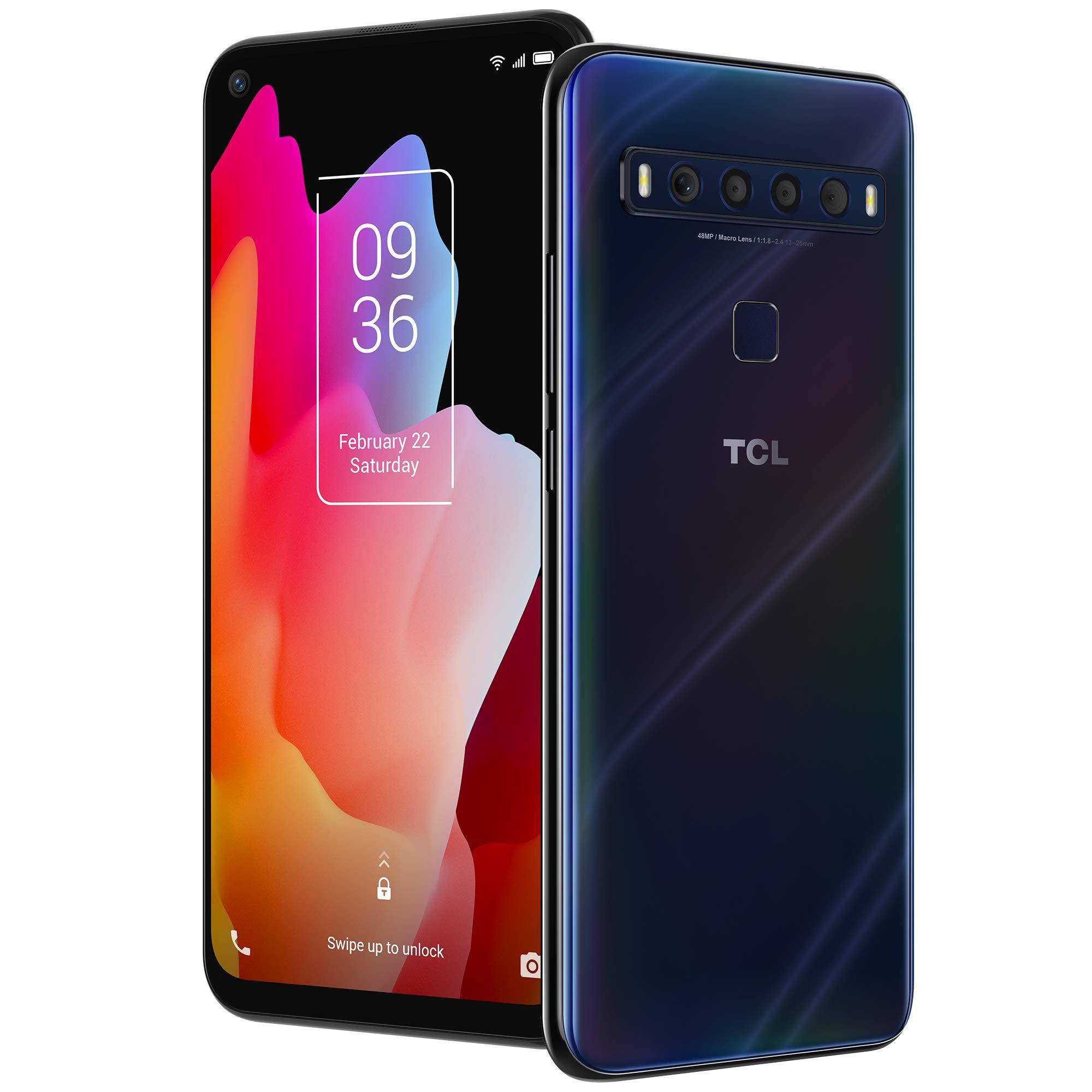 "TCL 10L, Unlocked Android Smartphone with 6.53"" FHD + LCD Display, 48MP Quad Rear Camera System, 64GB+6GB RAM, 4000mAh Bat..."