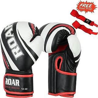 Roar Professional Kickboxing Training Gloves Gel Sparring Punching Bag Mitts